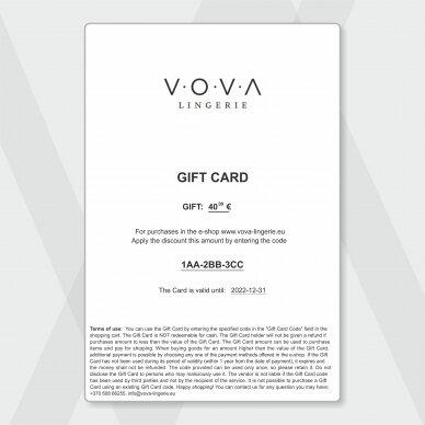 GIFT CARD - 40€ 5