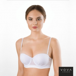 """Perlin"" balconette molded push-up bra"
