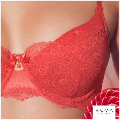 """Coral Garden"" push-up bra 4"