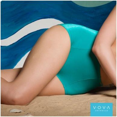 """Velvet Season"" high-waist swim briefs"