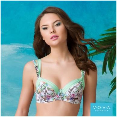 "Ujumisriided rinnahoidja ""Flower Waves"" bra for the big sizes 2"