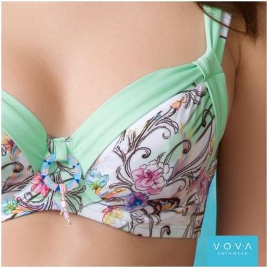 "Ujumisriided rinnahoidja ""Flower Waves"" bra for the big sizes 4"