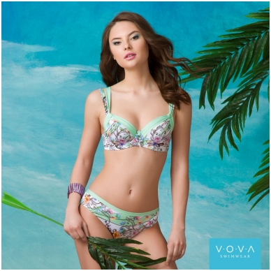 "Ujumisriided rinnahoidja ""Flower Waves"" bra for the big sizes"